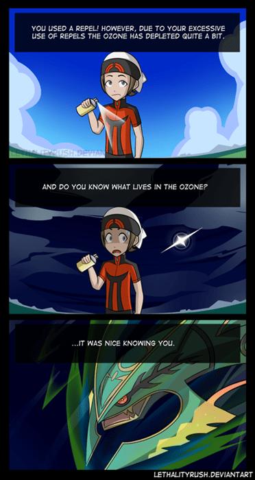 pokemon memes repel ozone layer