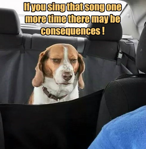 If you sing that song one more time there may be consequences !