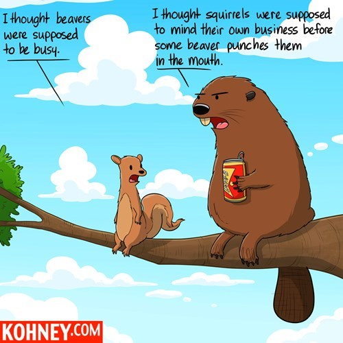 beavers,nature,drinking,critters,squirrels,web comics