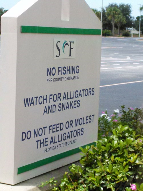 sign FAIL alligators florida animals - 8554087168