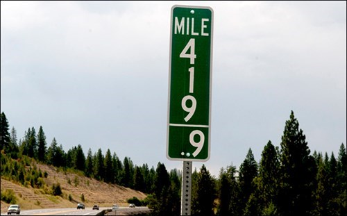 Idaho replaces the 420 mile marker so stoners don't stop there anymore