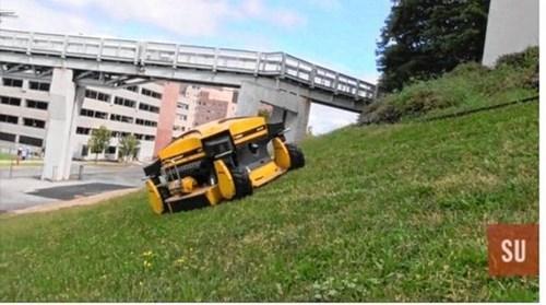 Syracuse has a grass cutting robot.