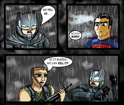 superheroes batman vs superman predator web comics