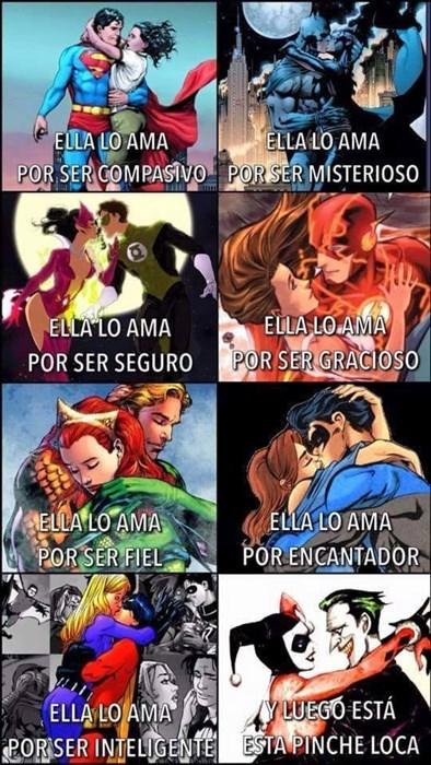 amor y superheroes