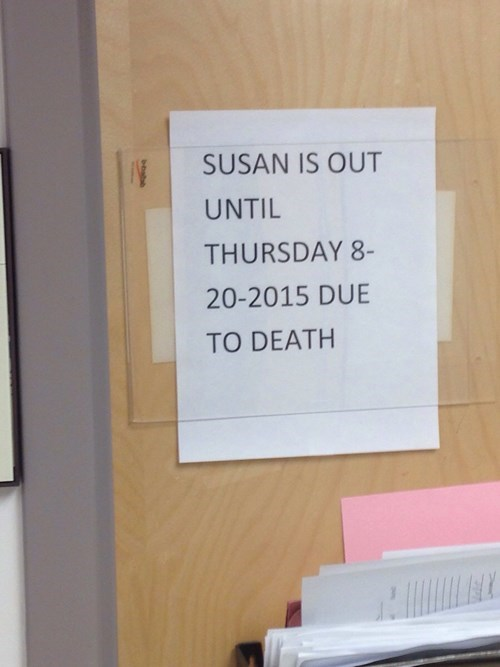 I Don't Think Susan is Coming Back...