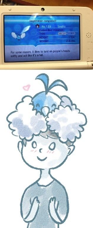 pokemon memes swablu hat