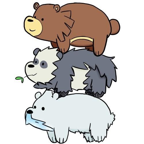 we bare bears crossover Pokémon Fan Art - 8555242240
