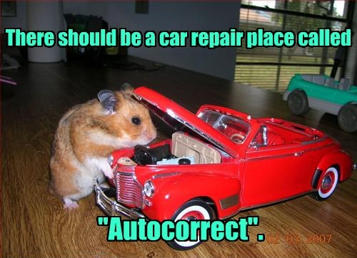 repair cars hamster funny captions - 8555439104