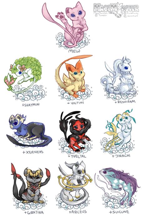 pokemon memes mew variations with legendaries
