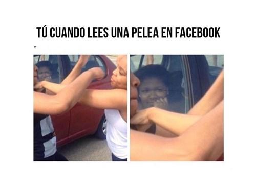 pelea en facebook