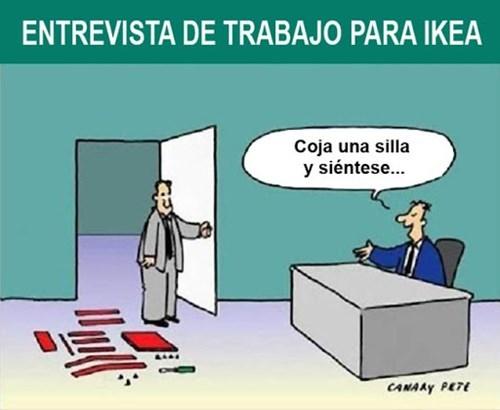 entrevista en Ikea