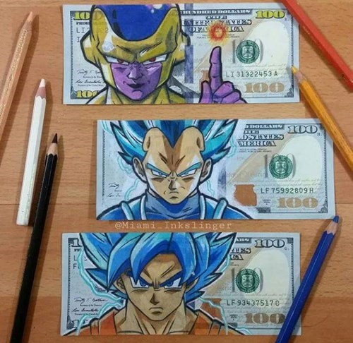 Fan Art,Dragon Ball Z,money