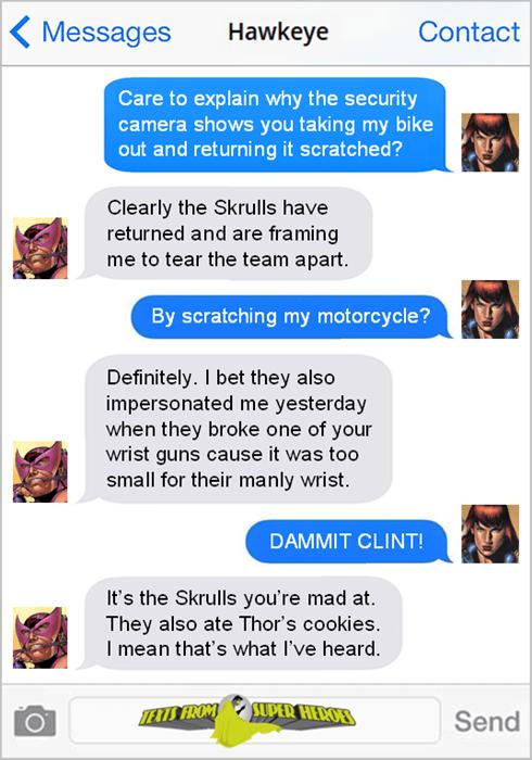 superheroes-hawkeye-black-widow-blame-the-skrulls-marvel-meme