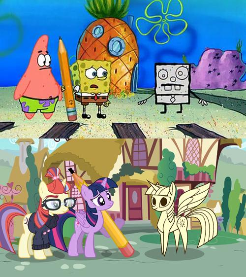 twilight sparkle,SpongeBob SquarePants,doodle