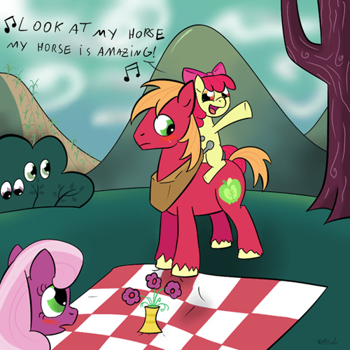 applebloom Fan Art Memes big mac horse - 8556810240