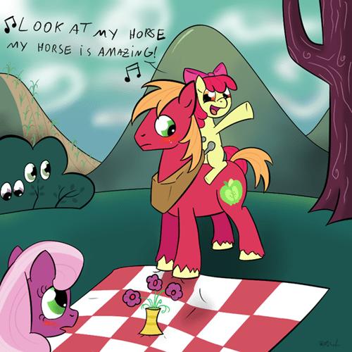 applebloom Fan Art Memes big mac horse - 8556810240