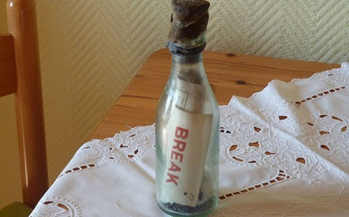 German couple stumbled upon the world's oldest message in a bottle.