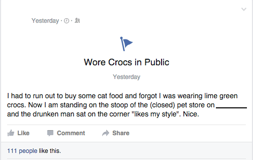 funny memes wore crocs in public