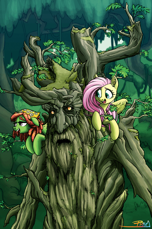 tree hugger Fan Art ents fluttershy - 8557088256