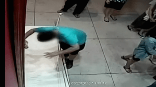 A kid fell on a $1.5 million painting in Taiwan.