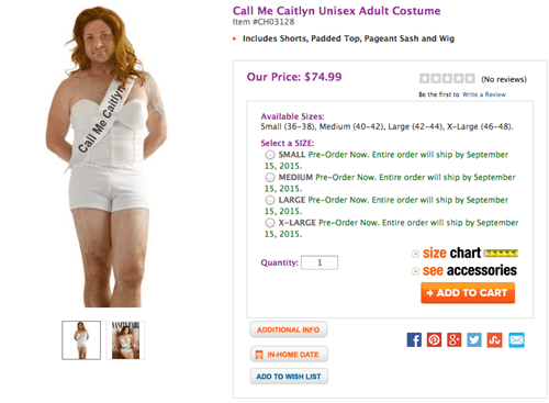 Caitlyn Jenner Halloween Costume Has People Very Upset
