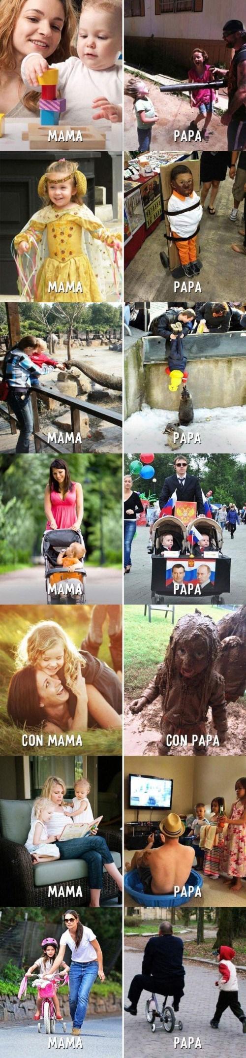 papas vs mamas