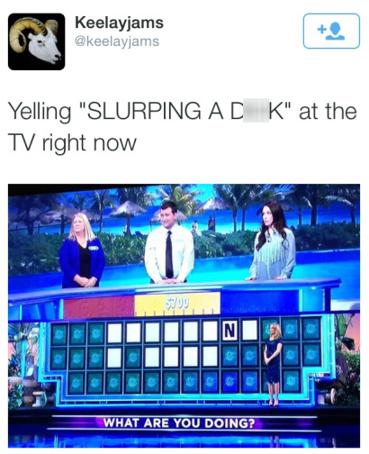 wheel of fortune,that sounds naughty