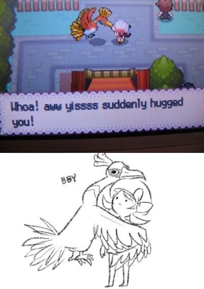 pokemon memes ho-oh hug