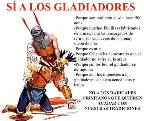 si a los gladiadores