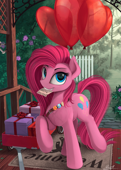 Fan Art pinkie pie youre-invited party pony - 8557414400