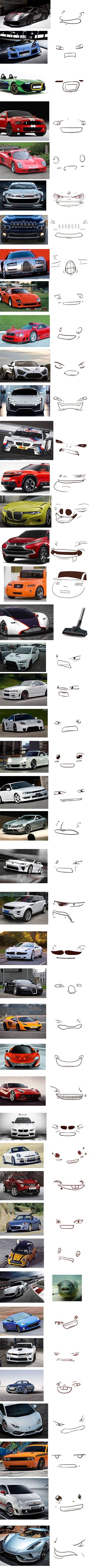 autos y rostros