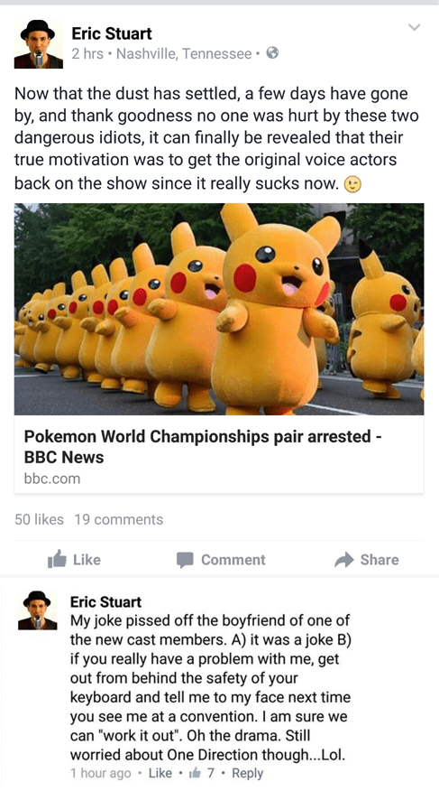 eric stuart Pokémon wtf voice actors - 8557751040