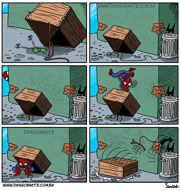 superheroes-spider-man-marvel-batman-catches-him-web-comic