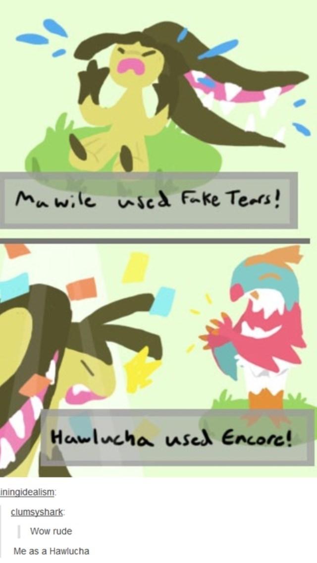 pokemon memes hawlucha used encore