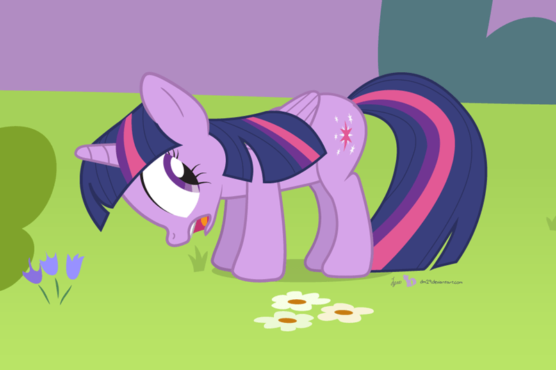 twilight sparkle grass delicious - 8558423808