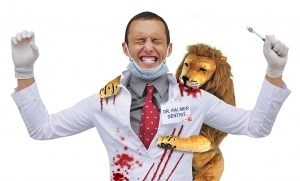 PETA makes its own cecil killing dentist halloween costume.