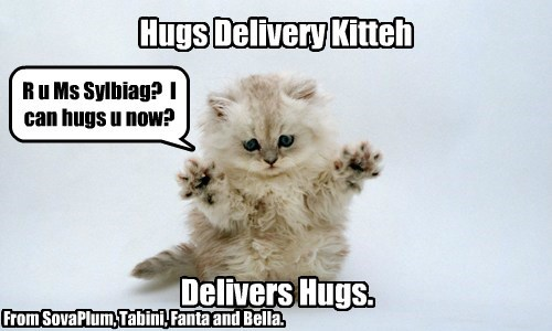 Hugs delivery for a Sylviag.  Is there a Sylviag here?
