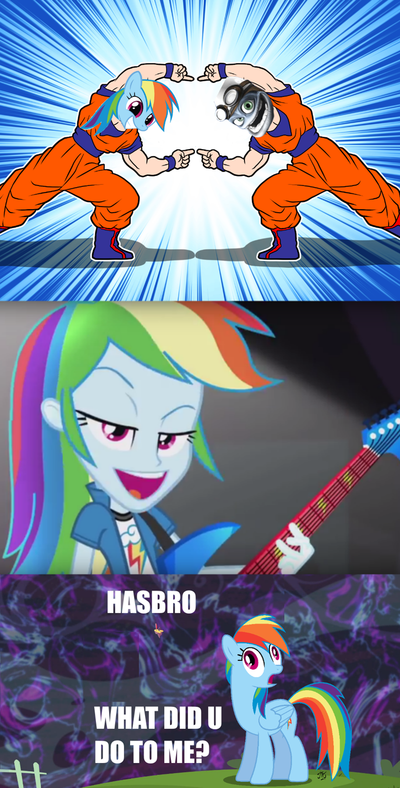 fusion Dragon Ball Z rainbow dash - 8558888192