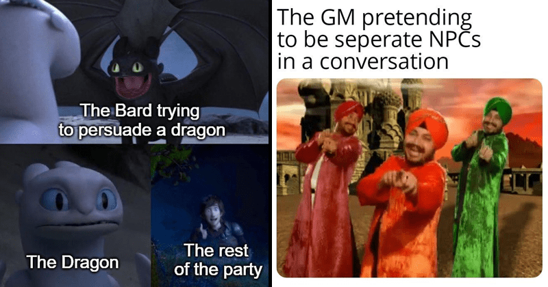 Funny memes, dungeons and dragons memes.