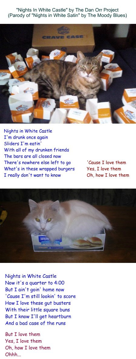 """Nights In White Castle"" by The Dan Orr Project (Parody of ""Nights in White Satin"" by The Moody Blues)"