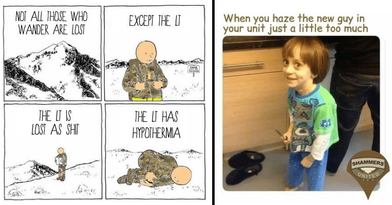 Funny memes about the military, military memes.