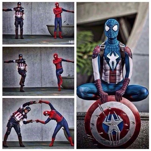 superheroes-captain-america-spider-man-marvel-fusion