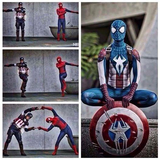 superheroes-captain-america-spider-man-marvel-fusion