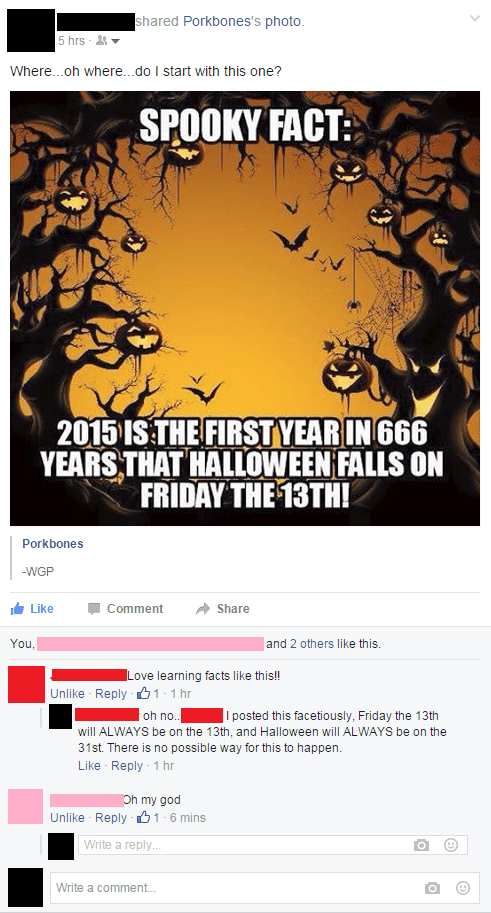 calendar FAIL halloween facepalm