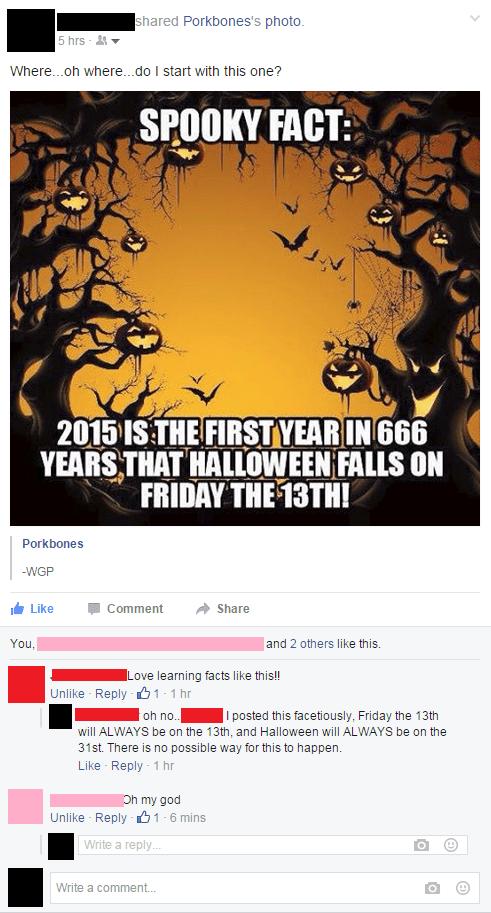 calendar FAIL halloween facepalm - 8559575040