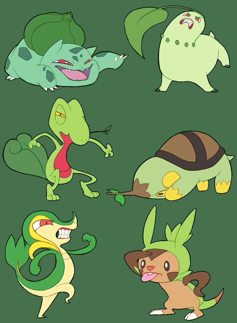 pokemon memes grass starters