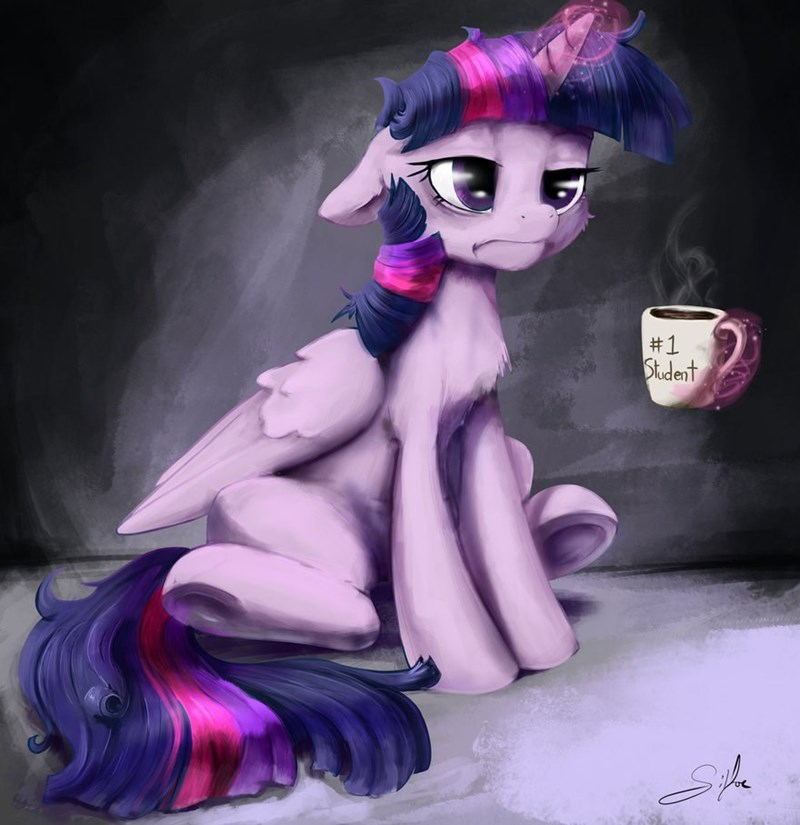 twilight sparkle,morning person,coffee