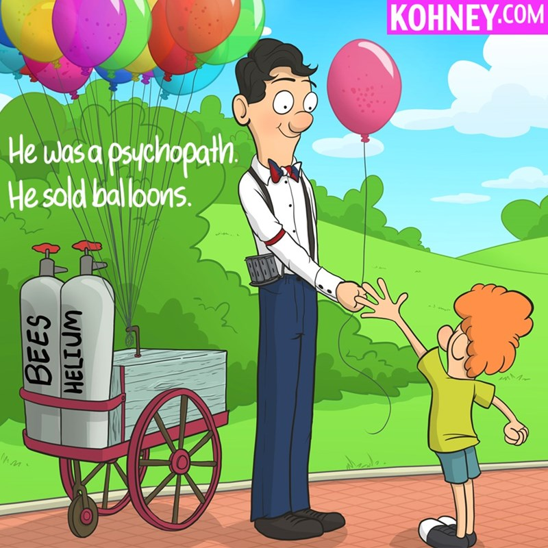 Balloons,bees,web comics