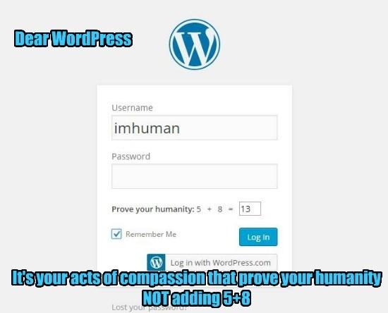 Dear WordPress