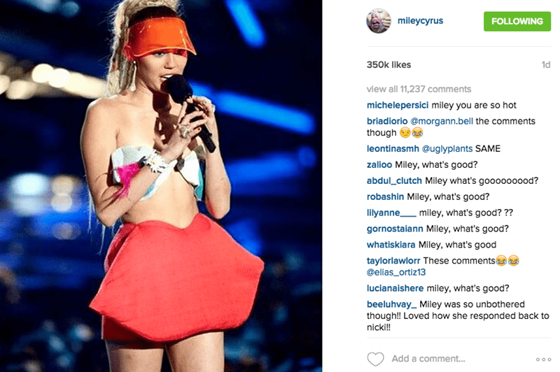 Nicki Minaj Fans Are Taking Over Miley's Instagram Whats Good?